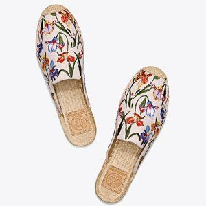 TORY BURCH Max Embroidered Espadrille Slide Floral